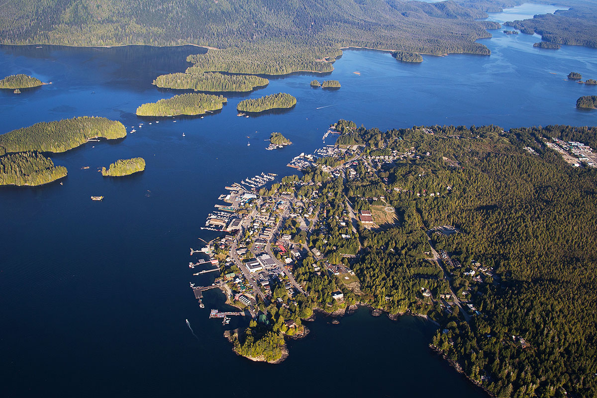 Tofino Village Aerials Photos Gotofino Com Photos