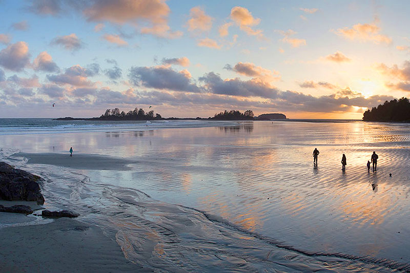 Day to night at Chesterman Beach South, Tofino, BC