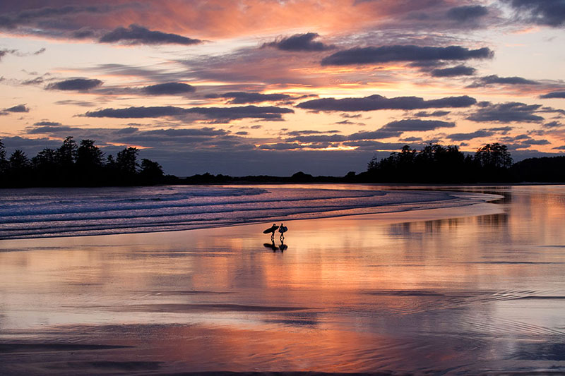 Sunset Surfing at Chesterman Beach South, Tofino, BC