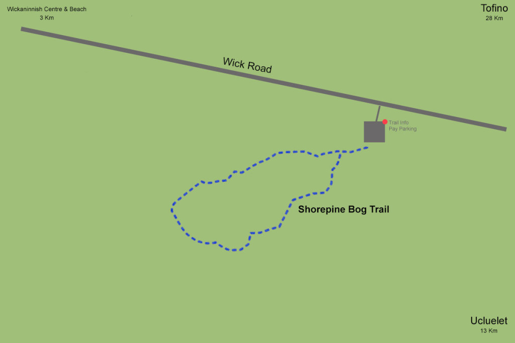 Map, Shorepine Bog Trail, Pacific Rim National Park, Tofino, BC