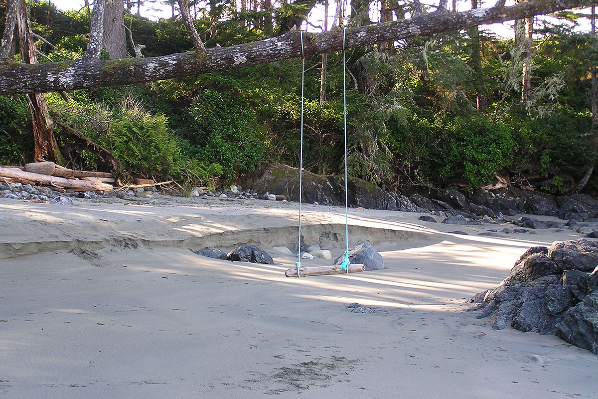 Swinging times,  Half Moon Bay, Pacific Rim National Park, Tofino, BC